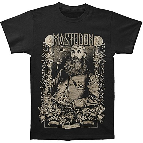 Mastodon Men's Beard Slim Fit T-shirt Black - Medium