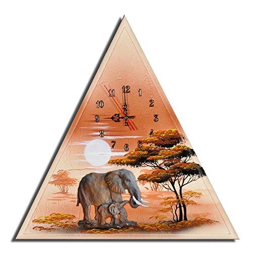 Wanduhr Elefantenherde Figur
