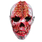 BESTOYARD Halloween Scary Horror Zombie Máscara Cosplay Disfraz Latex Máscara Completa Fancydress Accesorio