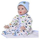 22 Zoll Reborn Babypuppen Weiche Silikon Neugeborenen Babys Junge Mädchen Puppe Kinder Geburtstag