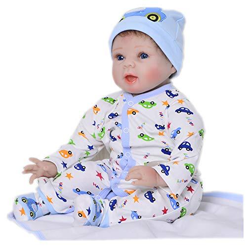 KEIUMI 22 Pulgadas Reborn Baby Dolls Soft Silicona recién Nacidos bebés Boy Doll simulación Realista Juguete niños cumpleaños