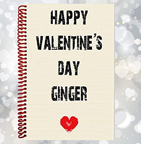 Happy Valentine's Day Ginger–Funny, Rude ordinateur portable, cadeau Saint Valentin