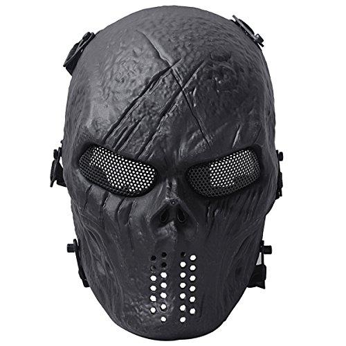 Outgeek Ghost Skull Skelett volle Gesicht Schutzmaske militärischen Schutz Halloween-Kostüm