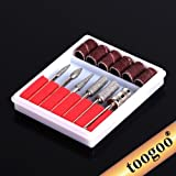 TOOGOO(R)-Nail-Art-6-Drill-File-Bits-Set-Tool-for-Acrylic-Manicure-Electric-Machine-Carver