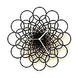 Rings - 41 cm moderno reloj de pared geométrico en negro