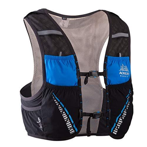 Lorsoul 5L Correr al Aire Libre Mochila Mochila hidratación Bolsa de Agua Sport Climbing Camping Trail Running Chaleco