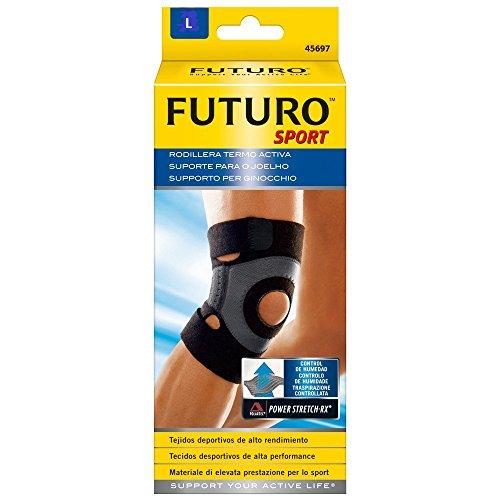 Futuro Sport Moisture Control Ginocchiera, Supporto per il Ginocchio Regolabile, L