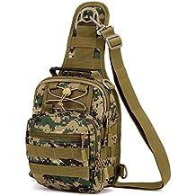 88b3eb8b3c Outdoor militare petto tattico borsa a tracolla Sling petto zaino per  campeggio escursioni, Jungle Digital
