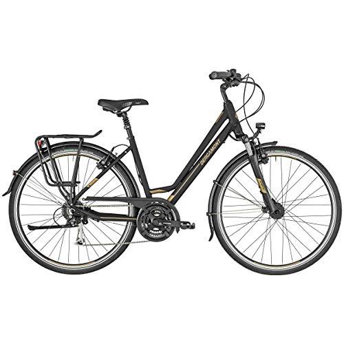 Bergamont Horizon 5 Amsterdam Damen Trekking Fahrrad schwarz/goldfarben 2019: Größe: 48cm (165-170cm)