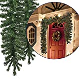 JEMIDI Künstliche Weihnachtsgirlande Tannengirlande Tannen Girlande Türbogen Beleuchtung Tannenbogen Girlande 270cm