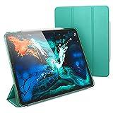 NALIA Custodia compatibile con iPad Pro 12,9 Pollici (2018), Ultra-Slim Tablet Cover Protettiva 360° Copertura Resistente, Sottile Fronte e Retro Protezione Hard-Case Rigida, Colore:Verde Chiaro