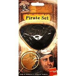 Parche de capitán pirata y pendiente de aro.