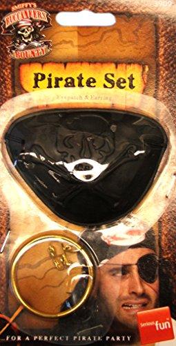 Smiffy's - Pirat Augenklappe und Ohrring Set Piraten (Piraten Augenklappe Ohrring Und)