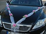 Guirnalda nupcial para el coche, novia, pareja, rosa, decoración, decoración para coche, coche, boda, decoración guirnalda coche