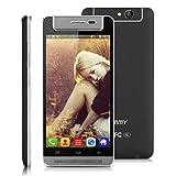 Timmy M9 - Smartphone Libre 3G Android 4.4 Celular (Quad Core, 5.0'' Pantalla IPS, Dual SIM, 1GB Ram, 8GB Rom, 5MP Cámara Rotable) (Negro)