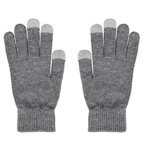 Benutzerdefinierte Winter-handschuhe (Magic Zone Damen Winterhandschuhe Stretch Kaschmir Handschuhe Touchscreen Handschuhe Damen Volltonfarbe Warm Gestrickte Dicke Warme Handschuhe)