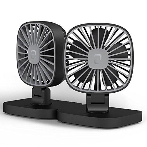 Kleine Auto Fan USB Fan 12 V Auto 24 V Große Lkw Van Starke Doppel Fan (Schwarz Und Weiß),Black