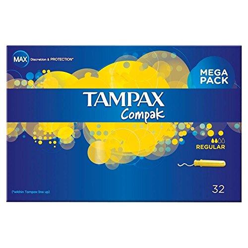 Tampons Tampax Compak D'Application Régulière (32)