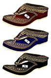 #6: Thari Choice Woman and Girls Ethnic Fashion Sandal Slipper (Pack of 3)