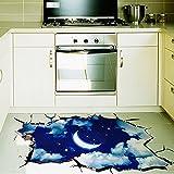 Zhen + 3D Sternenklarer Himmel Mond Sternkarte Muster Wandsticker Kinder  Schlafzimmer Wandtattoos Wohnzimmer Fensterglas Dekorativen Entfernbare ...
