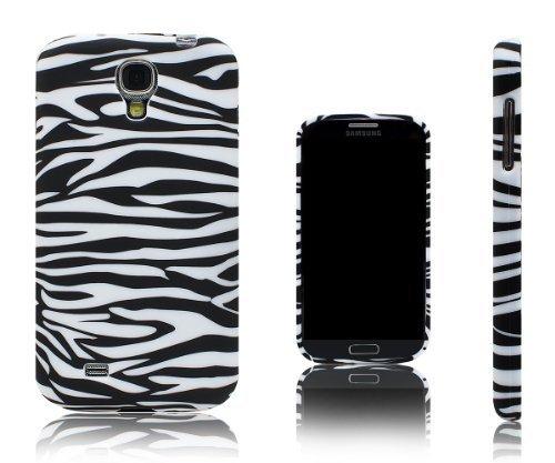 Xcessor Zebra Stripes Flexible TPU Case für Samsung Galaxy S4i9500-Schwarz/Weiß Sg Shell Gel