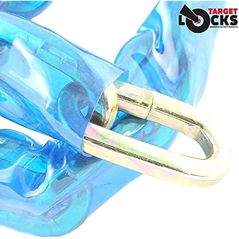Meta 1m x 10mm cuadrado Linked Cadena de seguridad–Sierra para metales y resistente cortador–endurecido acero–Resistente a martillo, cinceles, perno, cizalla,