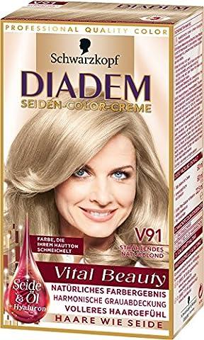 Diadem Seiden-Color-Creme V91 Strahlendes Naturblond Vital Beauty, 3er Pack (3 x 142 ml)