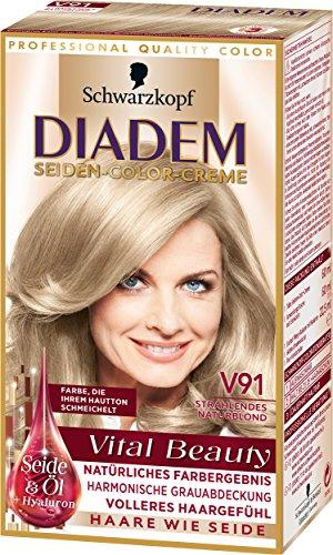 Abgedeckt Creme (Diadem Seiden-Color-Creme V91 Strahlendes Naturblond Vital Beauty, 3er Pack (3 x 142 ml))
