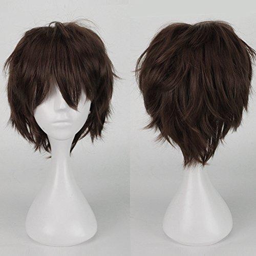 S-noilite® Unisex Kostüm Perücke Kurz Party Cosplay wig Kostueme Glatt Haar Perücken Wigs Damen Mann - (Für Perücken Männer Lockigen)