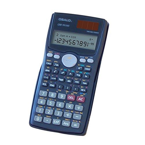 OFFIDIX Office Desktop Scientific Taschenrechner, Solar und Batterie Dual Power Electronic Taschenrechner Portable 12 Ziffern Großer LCD Display Taschenrechner für Studenten Taschenrechner Batterie Lr44