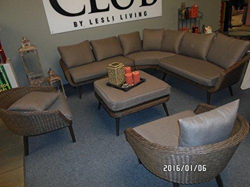 Lounge Banc de coin Set de vinyle 3 canapés 1 table haute qualité Exklusiv
