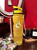 Grsta Bottiglia d'Acqua Sportiva - 32oz-1000ml Borraccia Sportiva, a Prova di perdite, Riutilizzabile Senza BPA tritan plastica Detox Bottiglie Acqua per Palestra, Sport, Yoga, la Corsa (Blu)