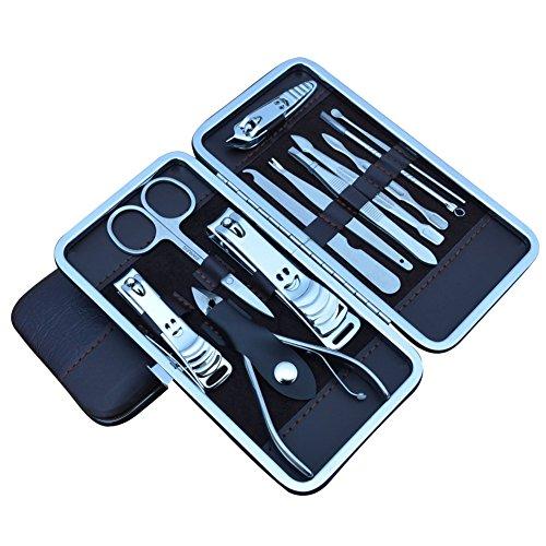 Weisy 12 in 1 Nagelpflege Set Pediküre Schere Pinzette Messer Maniküre Set Kit