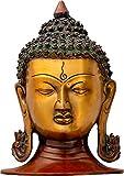 Exotic India Cabeza de Buda Calmdad Exudante, Doble Chola, Tamaño: 4.7 x 5.8 x 8.3