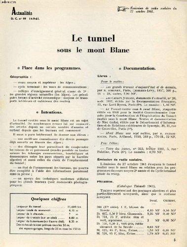 ACTUALITES D.C N°99 LE TUNNEL SOUS LE M...