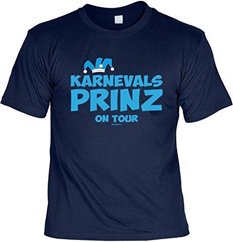 Fun Shirt mit Karneval Motiv: Karnevals Prinz on Tour - Shirt für Fasching - Kostüm Alternative - Faschingskostüm - navyblau Navyblau
