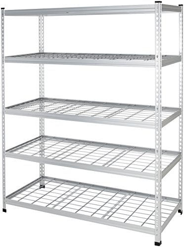 AmazonBasics - Robustes Standregal, Doppel-Stangen, Stahldraht, 152 x 61 x 198 cm
