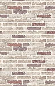Papier Peint Erismann Brix Motif Brique Mur Rouge