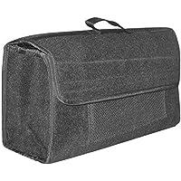EUFAB 21023 Bolsa para Maletero Fabricada en Fieltro con Velcro, 50 x 15 x 22 cm, Color Gris