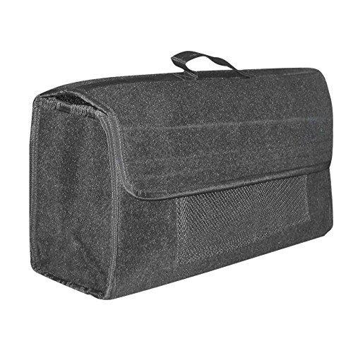 Eufab 21023 - Bolsa para maletero fabricada en fieltro con velcro (50 x 15 x 22 cm), color gris