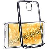 La caja del cromo para Samsung Galaxy Note 3 | Funda de silicona transparente con efecto metálico | Protección de celda fina bolsa de OneFlow | Backcover en Anthracite-Black