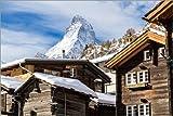 Poster 90 x 60 cm: Zermatt von Jan Schuler - hochwertiger