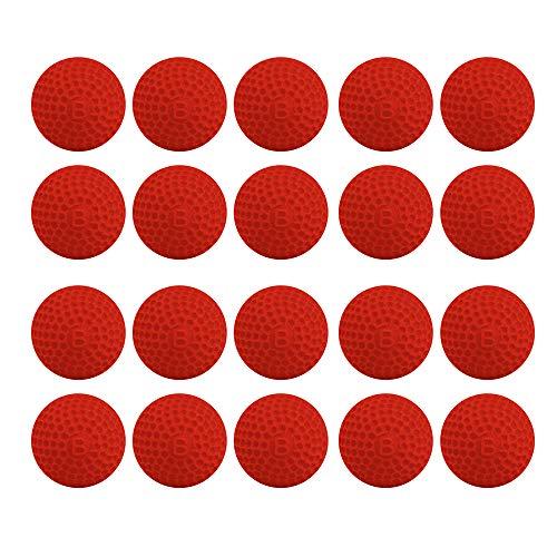 Vektenxi Nachfüllen Spielzeug Kompatibel Gun Bullet Balls Kind Spielzeug für Nerf Rivalen Apollo Zeus Rot 20 Stücke -