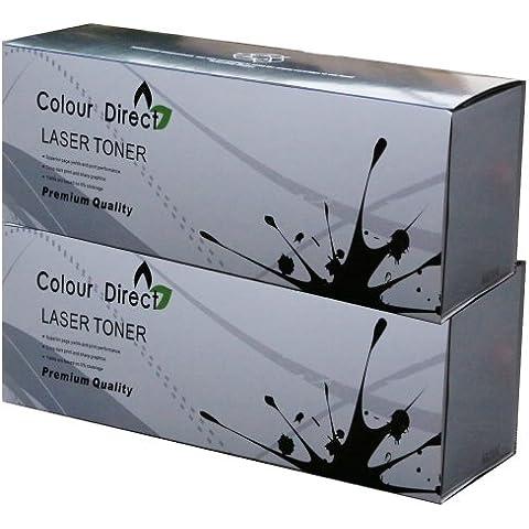 2 X Colour Direct Nero compatibile Cartuccia Toner Sostituzione Per