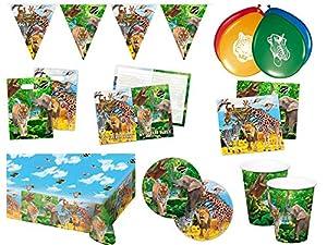 Folat 00253-Party Set Safari, 62piezas)
