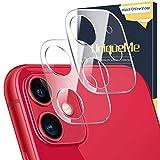 UniqueMe [2 Pack] Protezione Lente Pellicola Posteriore per iPhone 11,Fotocamera Posteriore Pellicola Vetro Temperato per iPhone 11 con Un Perfetto Servizio Post-Vendita.