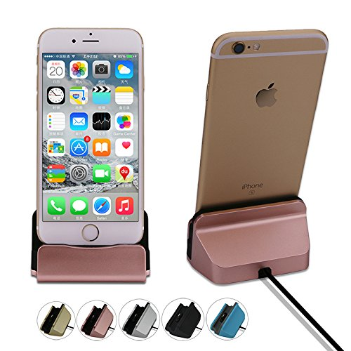 Generic Rose Gold, For iPhone 6 6S : Leebote Original Charger Dock Station Stand Cradle Data and Sync USB Cable Dock Charger for iPhone 7 7 Plus 6 6S Plus 5 5S SE 5C
