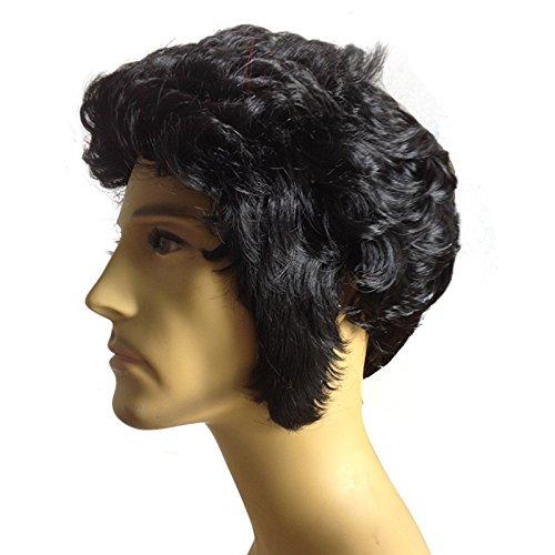Mode natürliche Perücken Cosplay Perücken Haar europäischen-Männer Perücke Perücke kurz Stofftuch - Männlich Halloween-hund-namen