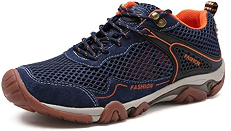 LXMEI Zapatos de hombre Red Hilo Cuero Primavera Otoño Comodidad Zapatos deportivos Zapatos de senderismo Atlético
