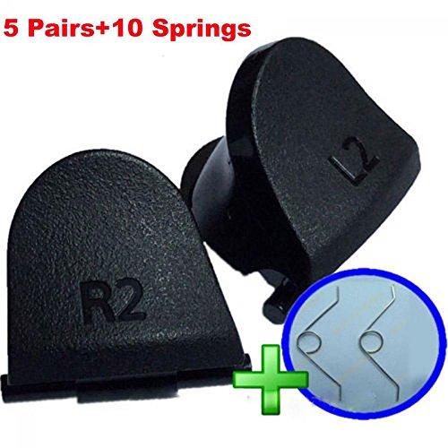 unmengii 5Paar Fashion Video Spiele Springs L2R2Teile Trigger Ersatz-für Playstation 4Controller